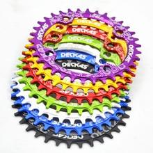 Deckas 104BCD bicycle cranksets Round Narrow Wide Mountain Bike MTB Bike 104BCD 32T 34T 36T 38T Crank Gear Disc Parts