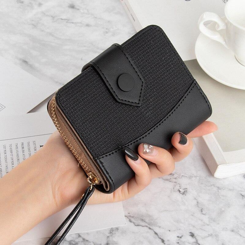6 Colors Fresh Style Women's wallets Short Leather wallet ladies Multi Card Holder Women's purse Trend 2021 porte feuille femme