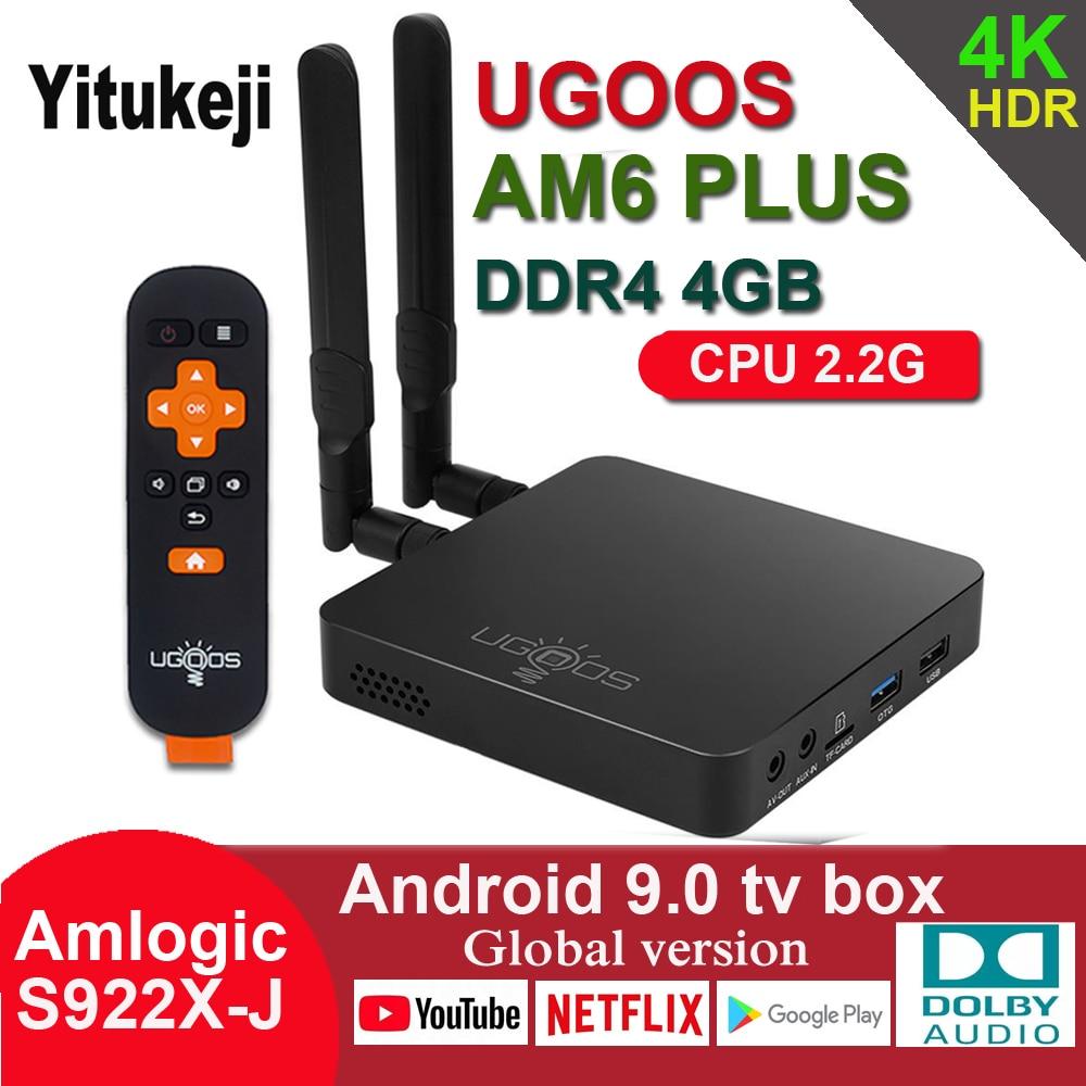 UGOOS AM6 PLUS Android 9,0 TV caja Amlogic S922X-J 2,2G CPU 4GB DDR4 32GB 2,4G 5G WiFi 1000M Bluetooth 4K Dolby Audio Set Top Box