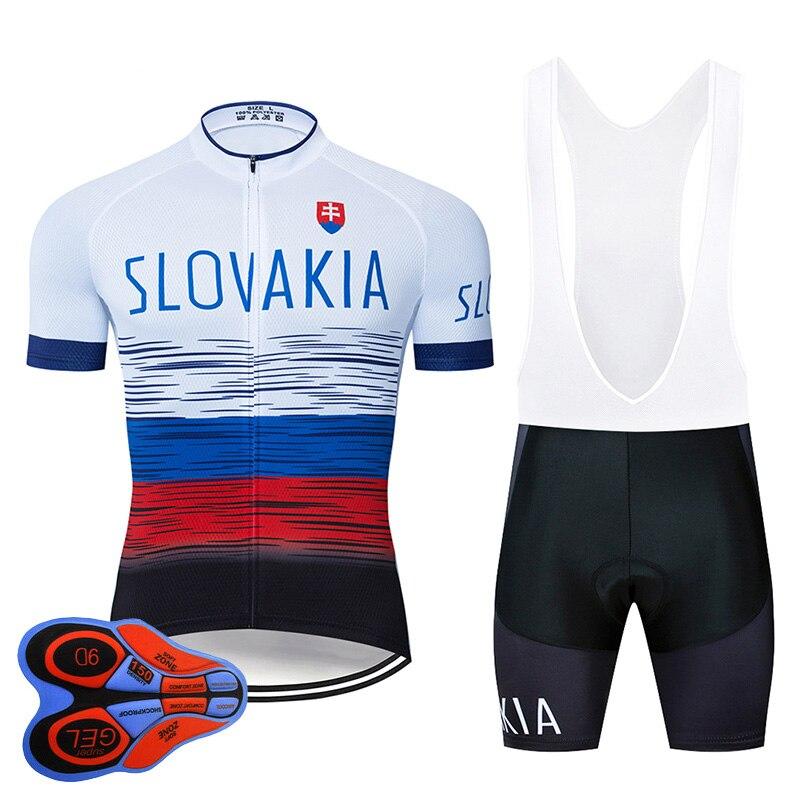 2020 eslováquia roupas de ciclismo 9d conjunto mtb jérsei bicicleta roupas ropa ciclismo dos homens secagem rápida bicicleta wear curto maillot culotte