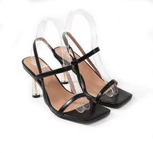 Comfort Shoes for Women Female Sandal Ankle Strap 2021 Summer High Heels Open Toe Large Size Girls F