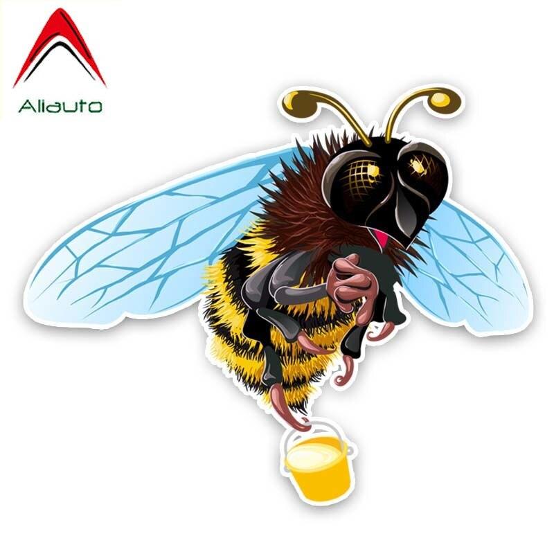 Aliauto divertido coche pegatina miel abejas recoger miel PVC alta calidad etiqueta...