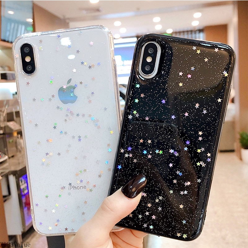 Shiny Star Wave Point Glitter Phone Case For iPhone 12 Mini 11 Pro XS Max X XR 6 6s 7 8 Plus SE 2020