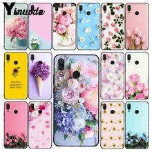 Yinuoda Elegante Blume Rosa Lila Pfingstrose Rose Tulpe Telefon Fall für Xiaomi Redmi Hinweis 7 8T Redmi 5plus 6A Note8 4X Note8Pro