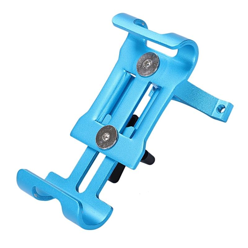 Soporte de montaje de teléfono para bicicleta al aire libre azul, soporte Universal para teléfono móvil para bicicleta, soporte fijo para navegación