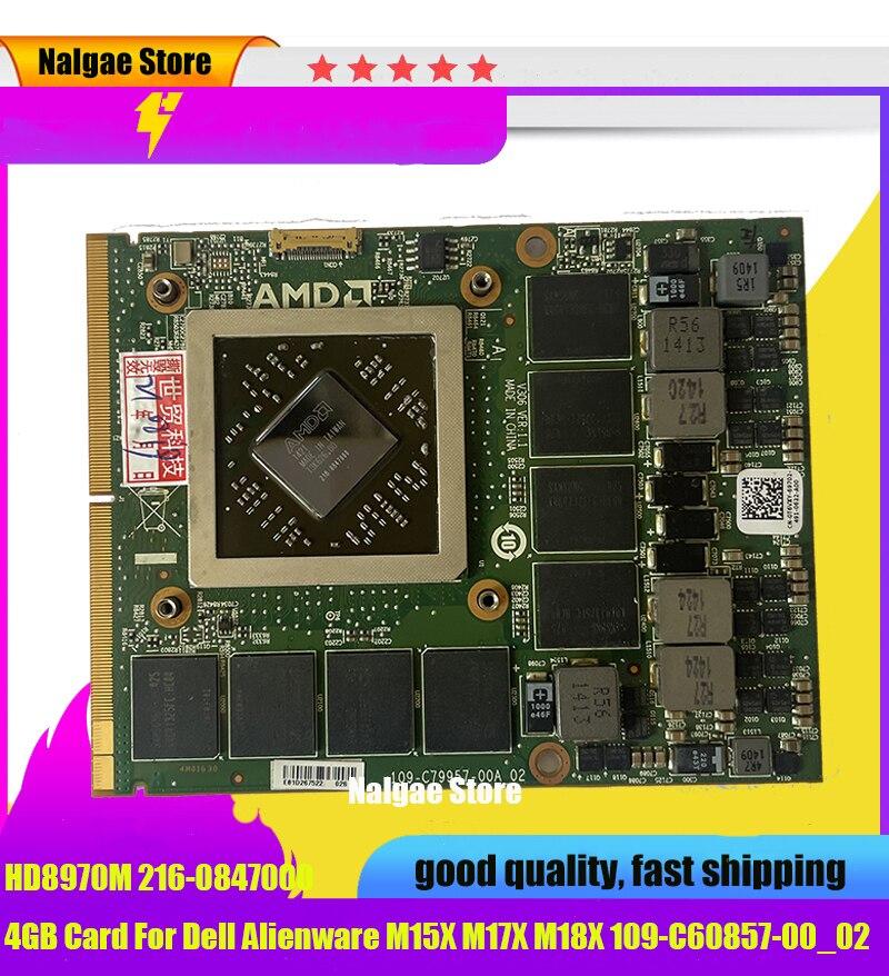 الأصلي HD8970M HD 8970M 4G بطاقة فيديو الرسم لديل Alienware R9 M290X M290 290 109-C79957-00A_02 كارت العرض النار