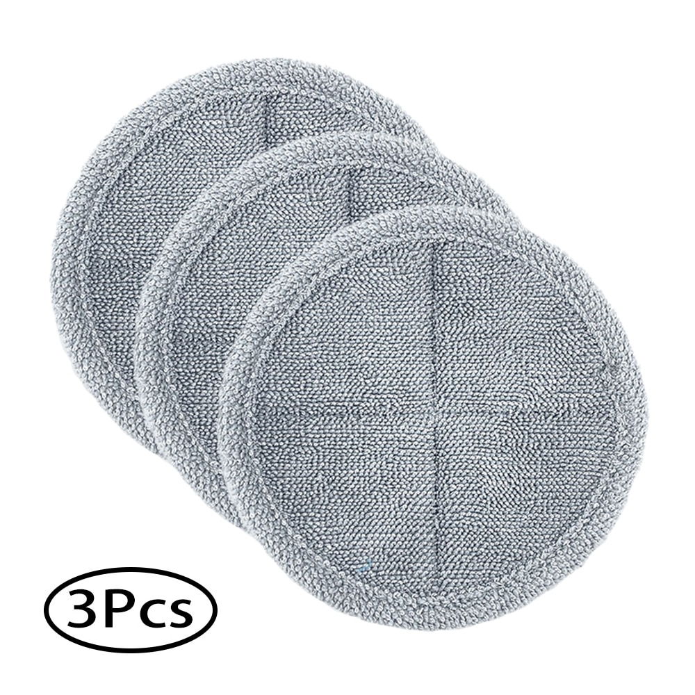3pcs Round Cleaning Cloth Mop Floor Pads For Dyson V7 V8 V10 V11 Vacuum Cleaner Accessories Robot Parts