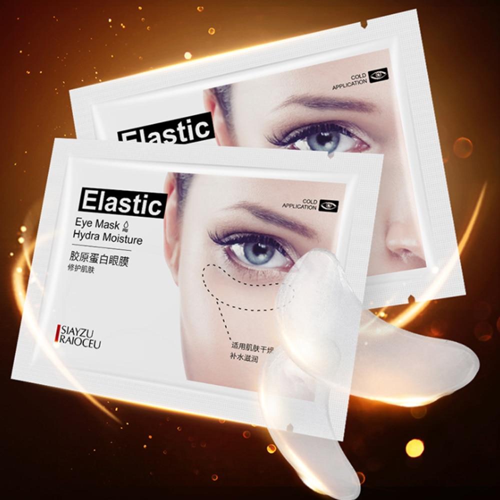 1 unidad de parche de colágeno cristalino para el cuidado de la cara, máscaras para ojos de colágeno, crema hidratante antiarrugas negra, máscara para cuidado ocular