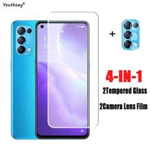 2PCS Glass For OPPO Find X3 Lite Screen Protector For Find X3 Lite Tempered Glass Protective Camera