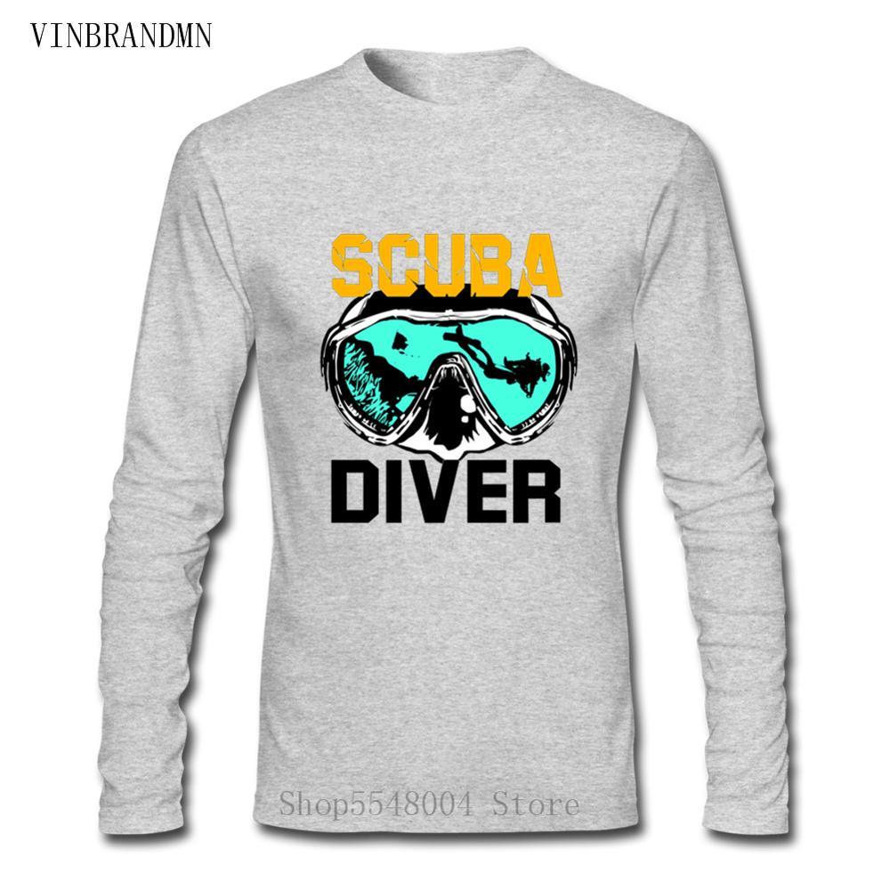 Nueva camiseta de manga larga de buceo para hombre, camiseta de buceo en el mar, camiseta de regalo para buceo, camiseta de atolón de oxígeno en el océano para buceo