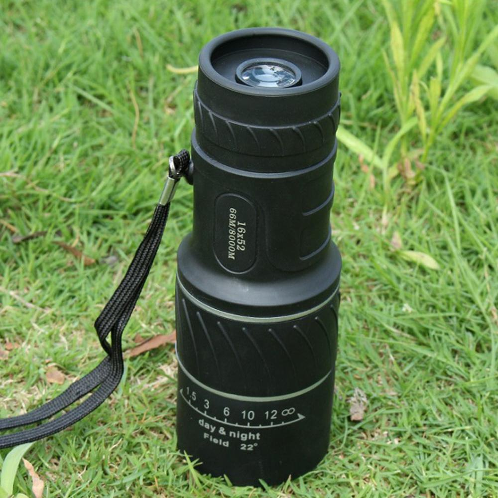 Купить с кэшбэком 20DC04 Monocular Telescope 16x52 Zoom Monocular HD Optical Hunting Telescope Low-light-level Night Vision Pocket Telescope