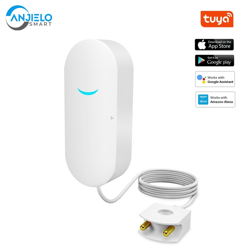Kitchen Water Leakage Sensor Basement 60dB Sound Tuya Wifi Alarm Warehouse Building Automation Security Protection
