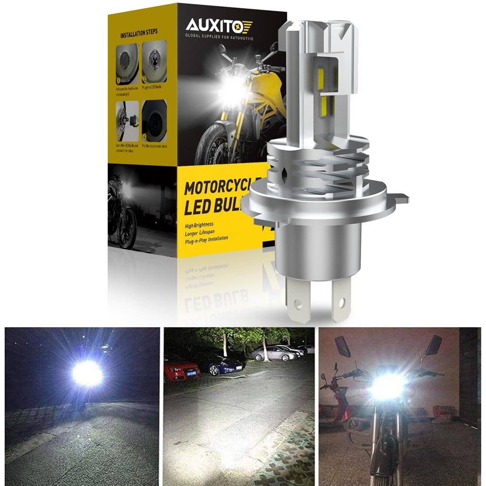 1pcs H4 HB3 Led Canbus No Error Motorcycle Headlight Bulb 1500LM 6000K White Hi/Lo Beam Light H4 Led Motorcycle Lights Headlight