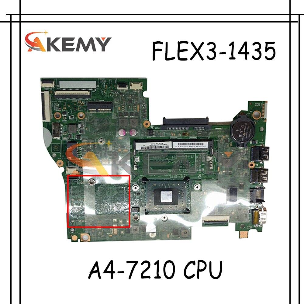 Akemy لينوفو IdeaPad FLEX3-1435 اللوحة الأم الكمبيوتر المحمول 448.03N04.0011 وحدة المعالجة المركزية A4-7210 100% اختبار العمل