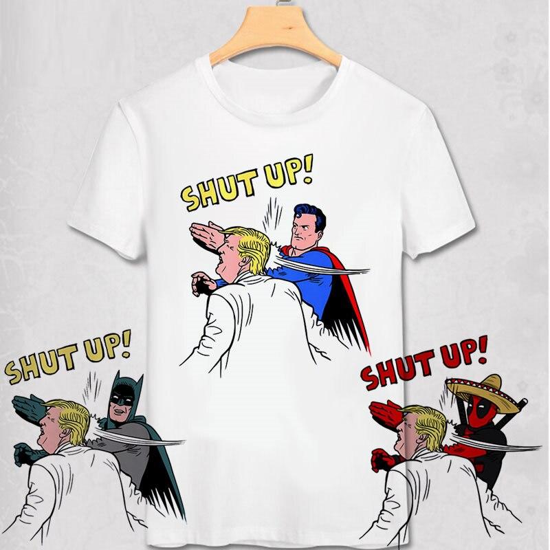 Lustige Donald Trump T Shirt super mann hemd Batman T-shirt Deadpool T-shirt Sommer Kreative Design Geek Lustige Superhero T Hemd