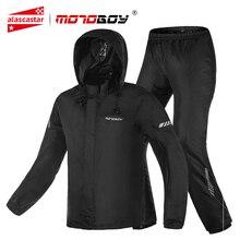 MOTOBOY su geçirmez motosiklet yağmurluk takım elbise yansıtıcı kapşonlu ceket pantolon bölünmüş vücut yağmurluk motosiklet motosiklet giyim