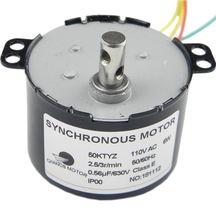 CHANCS AC Motor производит 50KTYZ AC 110V 2,5-3RPM Синхронный двигатель Geare Box 6W