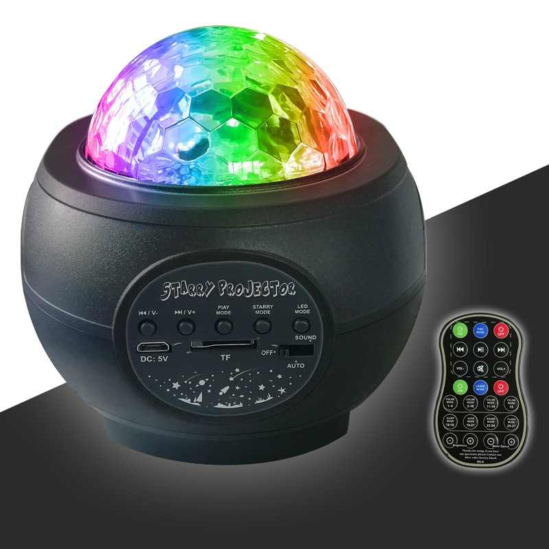 LED Laser Colorful Starry Sky Ocean Projector Night Light Remote Control Ocean Wave Projection Lamp With Bluetooth Music Speaker enlarge