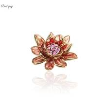 Vintage Flower Brooch For Women's Blue Red Pin Jewelry Party Office Clothes Scarf Buckle Garment Acc