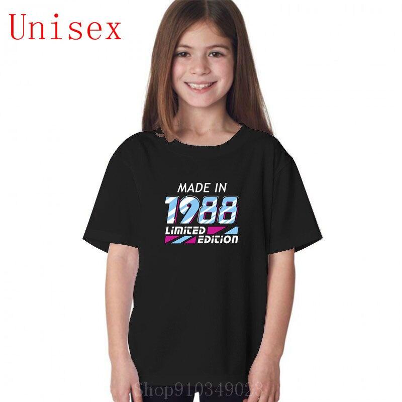 Hecho en 1988, todas las piezas originales, regalo de cumpleaños 30th, Ropa para Niñas, camiseta para niñas, ropa para niños, ropa de verano para niños