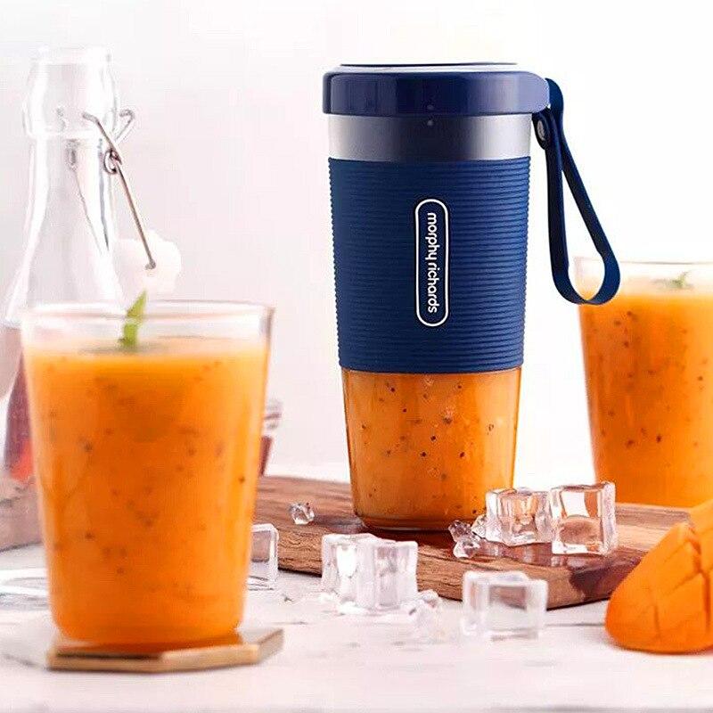 300 مللي أمبير خلاط عصير محمول بطارية 1400 مللي أمبير قابلة للشحن فواكه خضراوات عصارة طعام قوية عالية السرعة