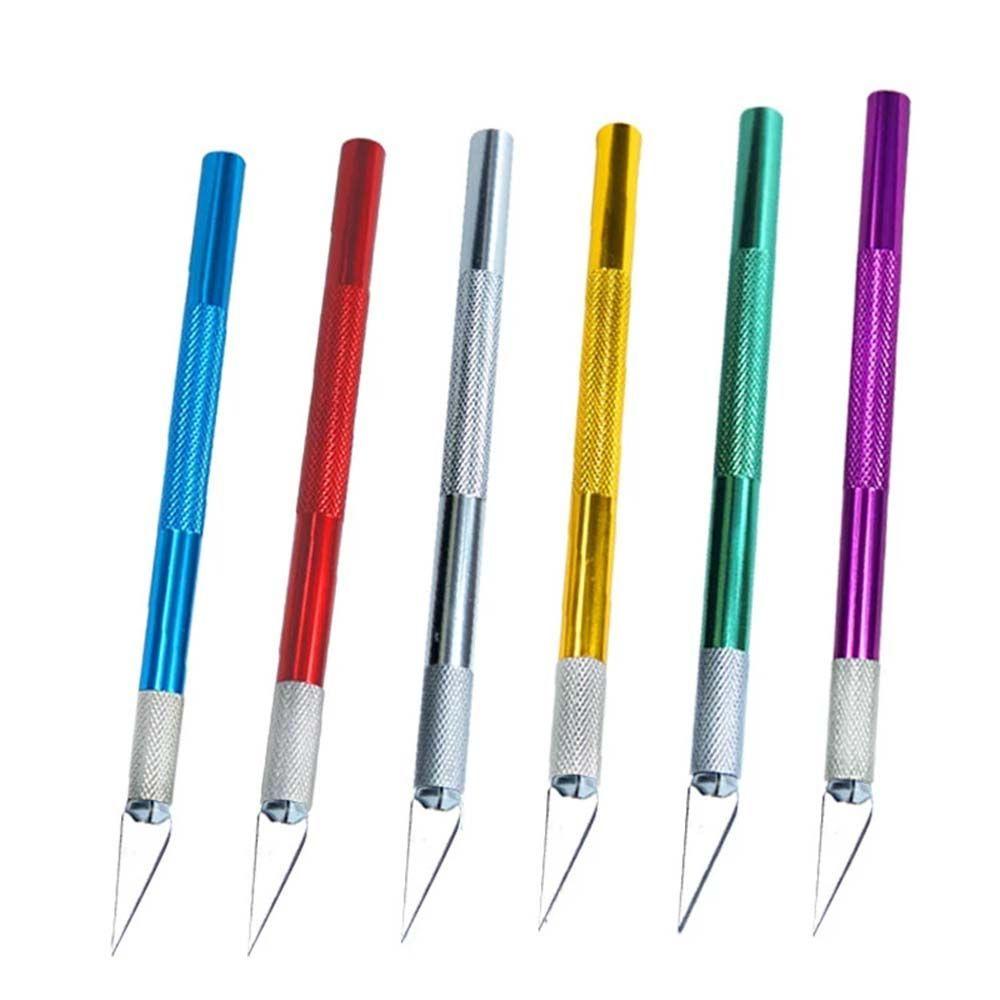 Новый гравировальный резак с 6 лезвиями металлическая ручка ремесло Резьба Скульптура нескользящий нож безопасный резак бумажный нож аксе...