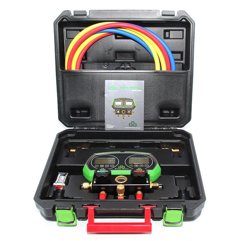 Air Conditioning Refrigerant Scale Automobile Car Fluorinated Pressure Gauge Manifold Fluorine Filling Refrigeration Meter