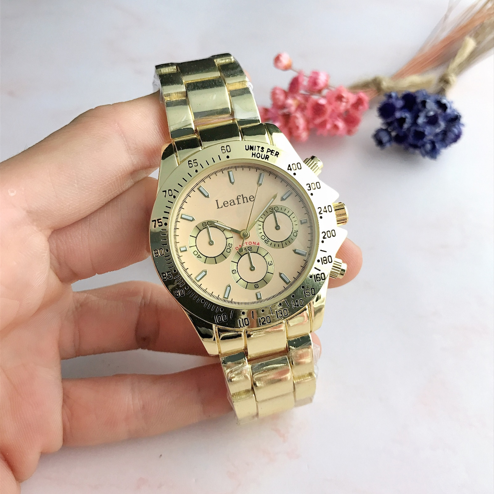 Fashion Brand  Watches Silver Gold Rose Stainless Steel Three Eye Style Strip Nails Quartz Watch Female Clock Reloj Mujer enlarge