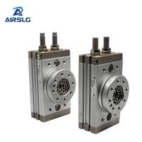 hrq pneumatic rotating cylinder table swing rack and pinion 0 to 190 degrees hrq10 hrq20 hrq30 hrq50 hrq70 rotary cylinder