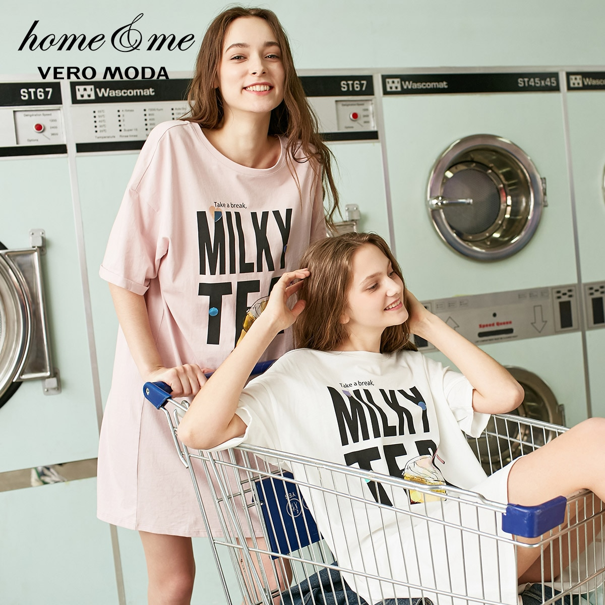 Vero Moda חדש תוספות סגנון נשים של 100% כותנה מכתב הדפסת Paillette חולצה שמלת   319161524