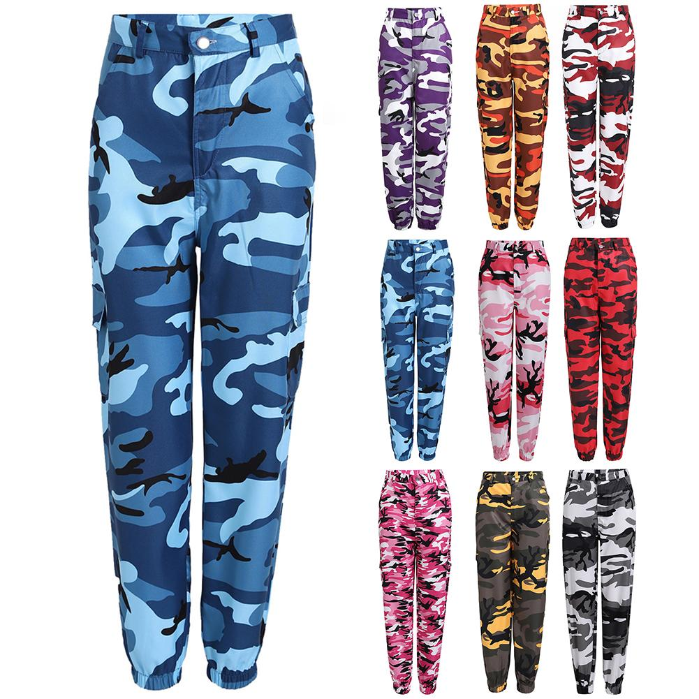 AliExpress - Fashion Women Casual Camouflage Print Elastic Sport Cargo PantsAnkle-Tied Trousers Cotton Spandex Women's Trousers Size S-3XL