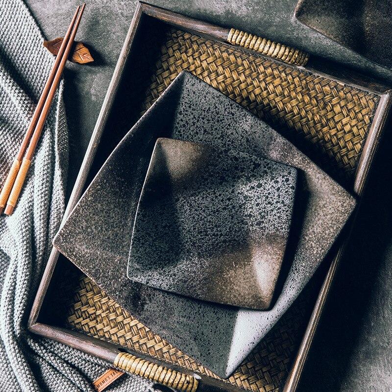LingAo السيراميك مربع ، طبق و شقة طبق هي مناسبة للمطاعم و الحليب المقاهي