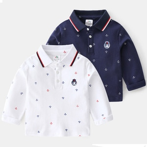 2-8 Years Toddler Boys Shirts Spring Autumn Casual Print Long Sleeves Shirt for Boy 2020 Children Tops Cotton Baby Boys Tshirts