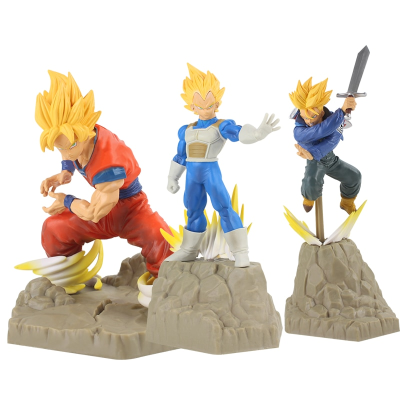 Perfeição Absoluta 3 estilos Japão Anime Dragon Ball Z Figura DBZ Goku Vegeta trunks Super Saiyan PVC Figure Toy Modelo