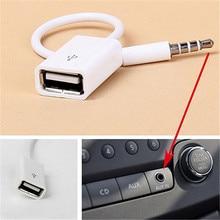 Разъем 3,5 AUX аудио разъем к USB 2,0 конвертер Aux кабель Шнур для автомобиля MP3 динамик U диск USB флэш-накопитель аксессуары 3,5 мм