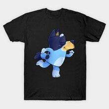 Bluey camisa de dança bluey t bonito azul heeler cão dos desenhos animados dança bluey