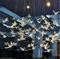 new wedding transparent bird akrik bird wedding decoration shop window hanging roof decoration