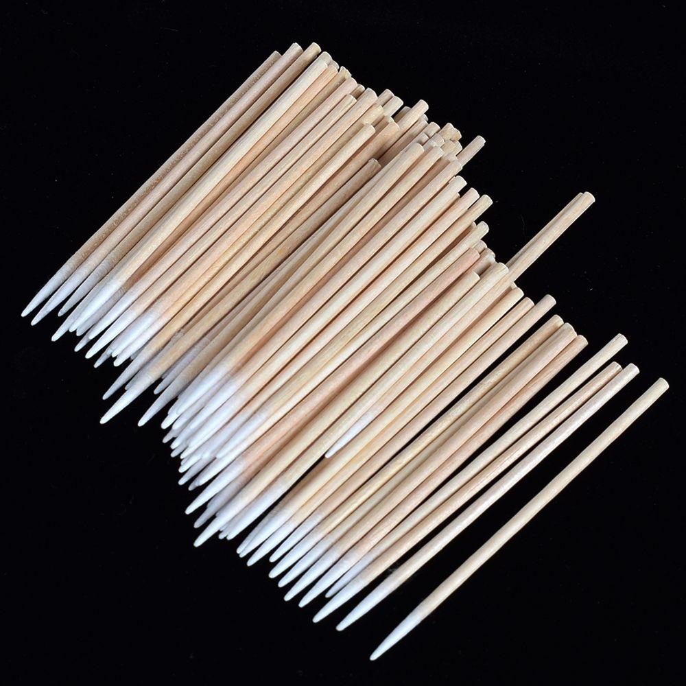 100 шт. ватные палочки, заостренный наконечник, ватные палочки, деревянные палочки, татуировка, Косметические палочки-аппликаторы для макияж...