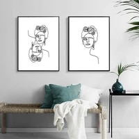 abstract portrait poster nordic canvas painting women wall art pictures for living room on the wall home modern decorative prins