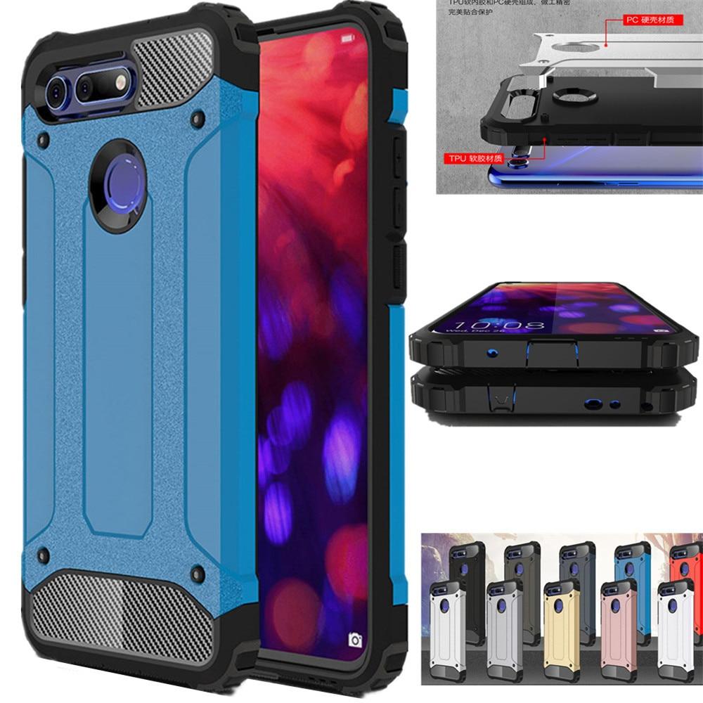 Funda de armadura de lujo para Huawei Honor V20 V10 V9 V8 8X MAX 8 9 10 Lite, funda de teléfono para Huawei Honor 6X 7X 5C Note 10 Play 9i