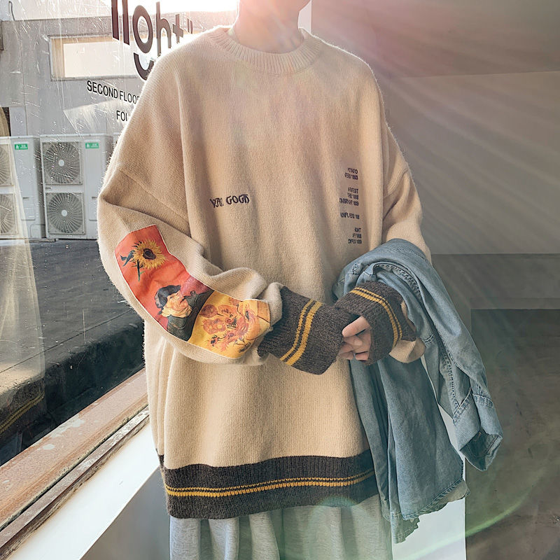 Фото - Fall/winter sweater men thickened Korean fashion personality sweater lazy pullover sweater coat fall winter sweater men thickened korean fashion personality sweater lazy pullover sweater coat