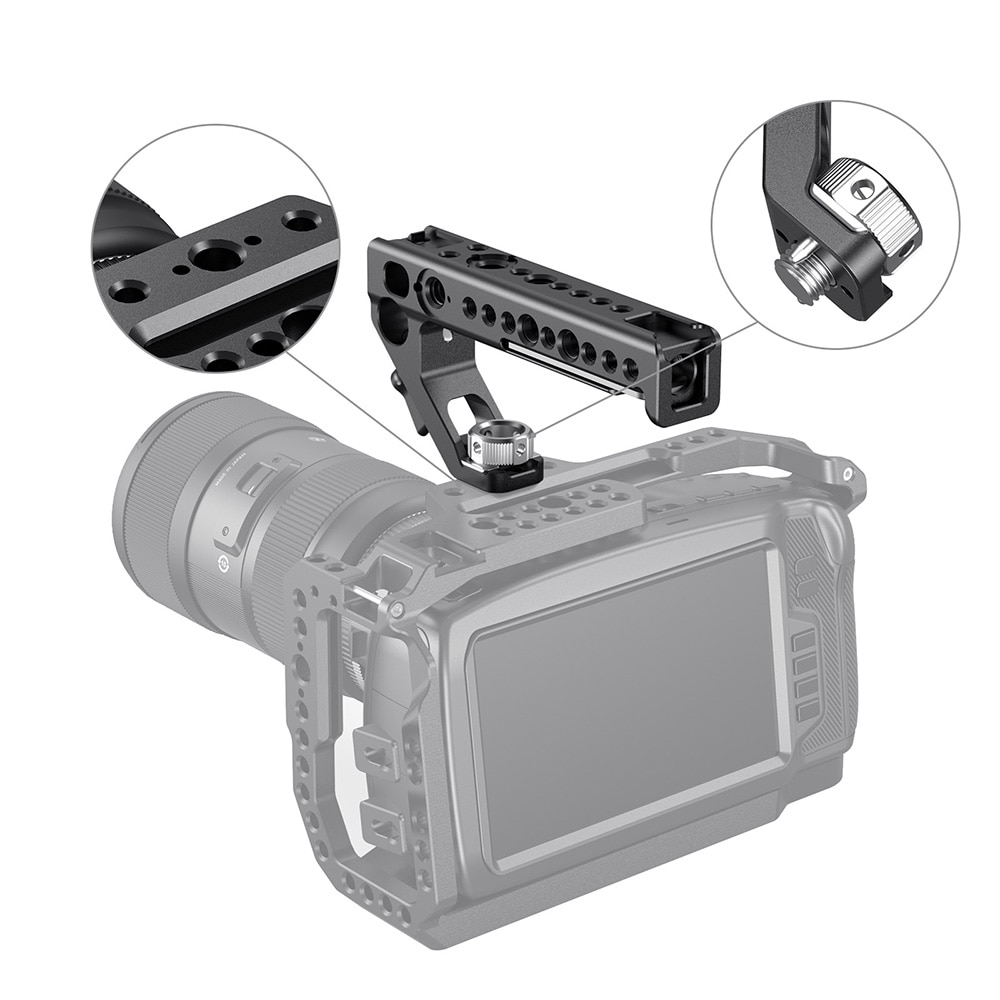 SmallRig Universal Arri Locating Top Handle Grip With 15mm Rod Clamp Built-in Cold Shoe For Dslr Camera Cage Handgrip -2165C enlarge