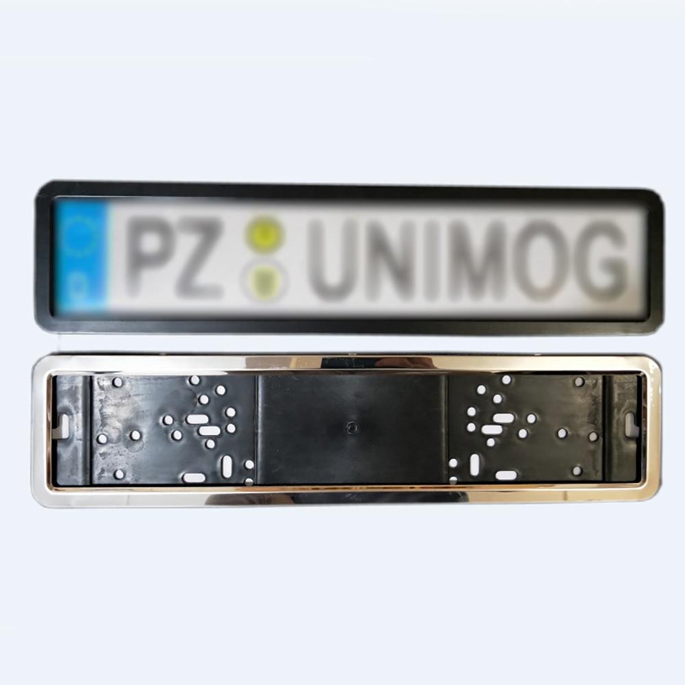 Auto parktronic ue moldura da placa de licença do carro aço inoxidável alta qualidade 8 pinos segurança número titular da placa