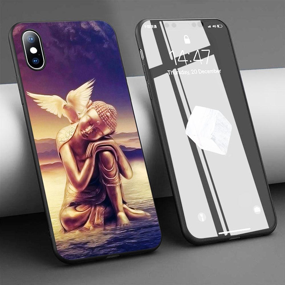 Funda de teléfono de silicona suave Coque Buda Buddha para iPhone 11 Pro Max X 5S 6 6S XR XS Max 7 8 Plus, funda para teléfono