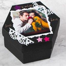 Hexagonal Explosion Gift Box Photo Album Love Memory Multi-Layer Surprise Diy Photo Album Such As Birthday Anniversary Gifts