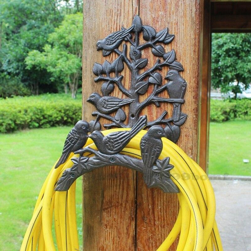الأوروبي الرجعية الحديد الزهر الطيور رف الجدار خرطوم حديقة الإبداعية الحديد الفن تخزين الرف فناء شرفة رف جدار المنزل