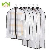 WCIC sac de rangement imperméable pour vêtements   Housse anti-poussière pour vêtements, pochette de rangement pour vêtements de garde-robe, pochette de protection pour manteau et costume, sacs de vêtements ménagers