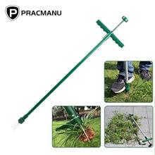 PRACMANU désherbeur debout et extracteur de mauvaises herbes debout manuel désherbeur outil à main avec 3 griffes en acier inoxydable extracteur de mauvaises herbes