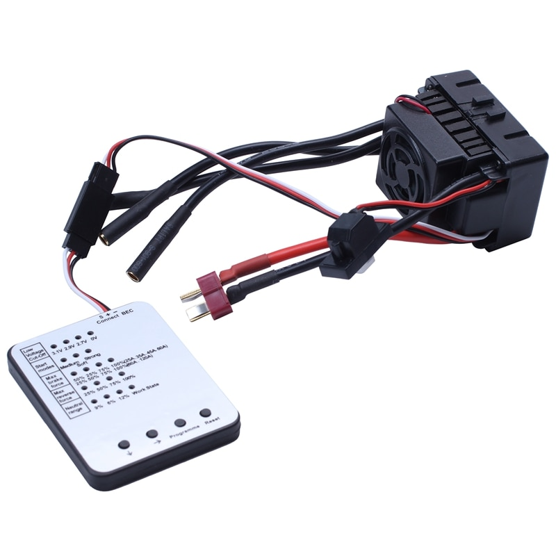 Impermeable 3650 2300KV/3100KV/3900KV Motor sin escobillas con 60A ESC W/tarjeta de programación Combo para 1/10 RC coche camión juguete 3100KV