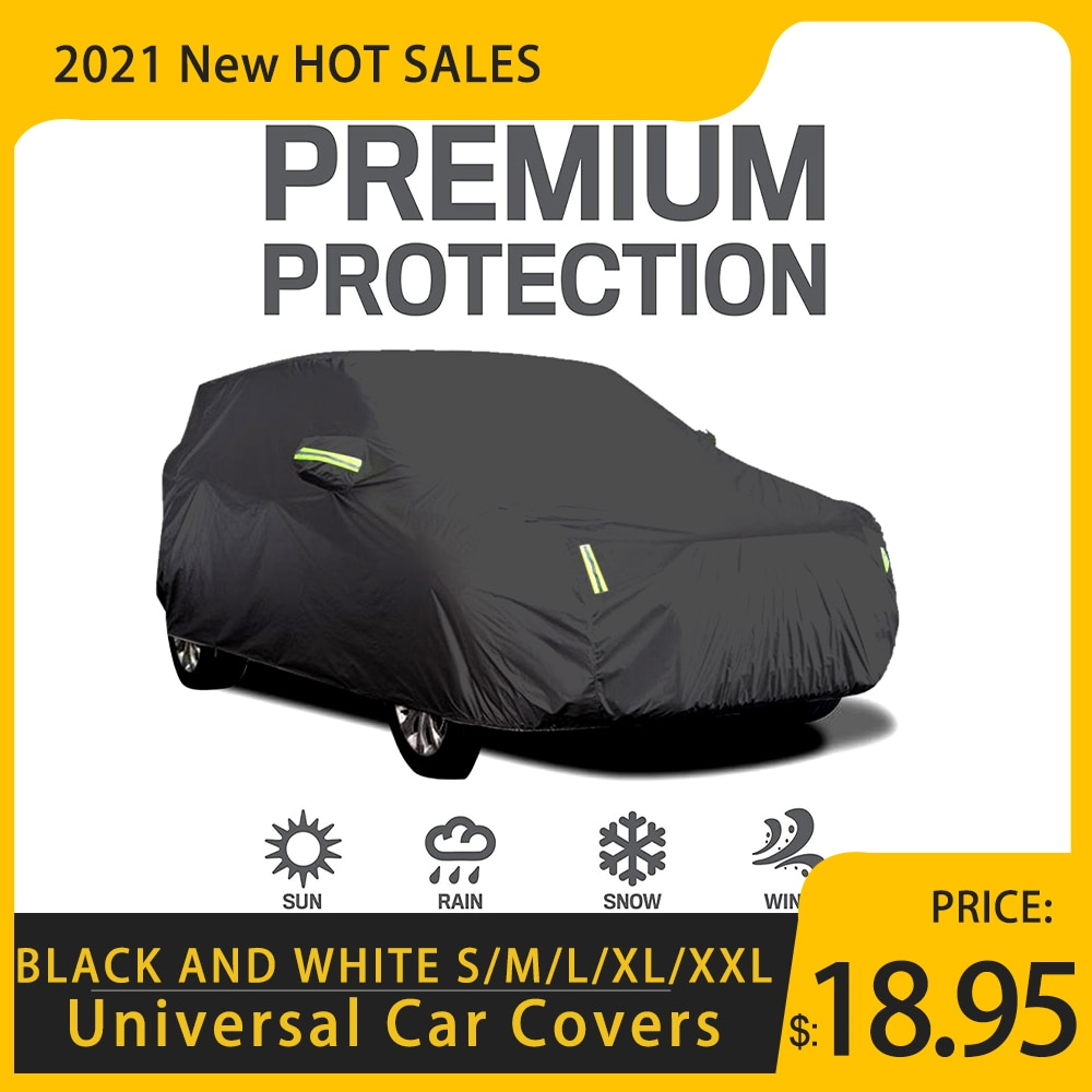Universal Car Covers Size S/M/L/XL/XXL Indoor Outdoor Full Auot Cover Sun UV Snow Dust Resistant Pro